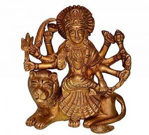 Purpledip hindou religieux Déesse Durga MA Statue: sculptée en laiton massif en métal pour maison Temple, bureau Table ou magasin Pūjā étagère | hindou religieux Cadeau (10681) de la marque Purpledip image 0 produit