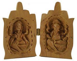 Purpledip Unique Décor: Statues de Lakshmi, Ganesh avec les mains pliées en position de Namaskar (10688) de la marque Purpledip image 0 produit