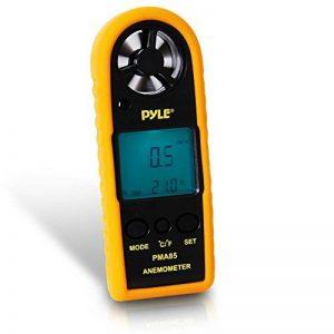 Pyle Anémomètre numérique Noir + coque protection jaune de la marque Pyle image 0 produit