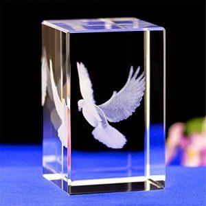 qianyue Cristal Verre Cube Modèle Cadeau 3D Laser Gravure Ange Aigle Statue Feng Shui Souvenir Artisanat (Ailes Aigle) de la marque qianyue image 0 produit