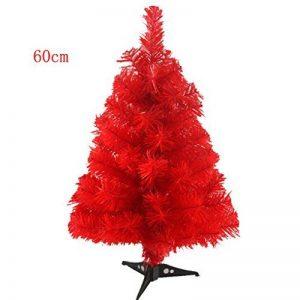 Quibine 2ft/60cm Sapin de Noël Artificiel Arbre de Noël avec Support d'arbre, Rouge de la marque Quibine image 0 produit