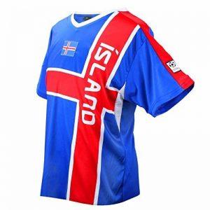 Équipe Trend Island Maillot Football Bleu Rouge de Mc Coupe du Monde Unisexe de la marque MC-Trend image 0 produit