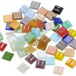 Rayher Hobby mosaïque de verre 1 x 1 cm – mélange de tesselles mosaïque seau de 1 kg (env. 1300 pièces) – carreaux mosaïque idéals pour la décoration dans la maison et à l'extérieur – multicolore de la marque Rayher Hobby image 1 produit