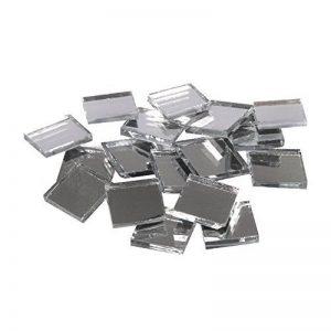 Rayher Hobby pierres mosaïque miroir – mosaïques verre carrés – seau de 1900 pièces de mosaïque miroir – 1x1 cm pour une surface de 40x52 cm – couleur argenté de la marque Rayher Hobby image 0 produit
