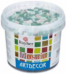 Rayher Hobby tesselles mosaïque – mosaïques verre – seau de 1300 pièces de mosaïque miroir – 1x1 cm pour une surface de 35x40 cm – vert de la marque Rayher Hobby image 0 produit