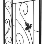 Relaxdays Arche à rosiers tuteur pour roses obélisque Support de plantes grimpantes colonne de Jardin en fer revêtu de poudrage-H x l x P: 226 x 144 x 36,5 cm-noir de la marque Relaxdays image 4 produit