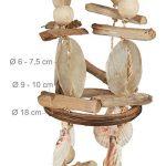 Relaxdays Carillon à coquillages attrape-rêves mobiles coquillages guirlande Décoration à suspendre bois flotté 107 cm de la marque Relaxdays image 2 produit