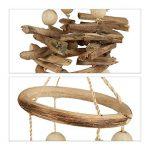 Relaxdays Carillon à coquillages attrape-rêves mobiles coquillages guirlande Décoration à suspendre bois flotté 107 cm de la marque Relaxdays image 3 produit