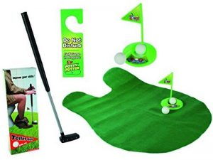 Relaxdays Mini-golf de toilettes Mini-golf pour toilettes Set Jeu de Golf Set pour la salle de bain 6 pièces de la marque Relaxdays image 0 produit