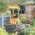Relaxdays Puit de décoration jardin en bois avec seau et manivelle HxlxP: 82 x 47 x 41 cm, nature de la marque Relaxdays image 1 produit