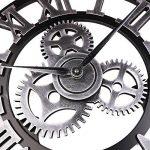 Retro Vintage Européenne Handmade 3D Engrenage Décoratif en Bois Vintage Horloge Murale Chiffre romain Horloge Pour la décoration de la famille salon / cuisine Hotel de la marque paradise001 image 4 produit