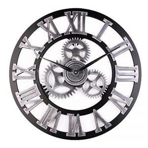 Retro Vintage Européenne Handmade 3D Engrenage Décoratif en Bois Vintage Horloge Murale Chiffre romain Horloge Pour la décoration de la famille salon / cuisine Hotel de la marque paradise001 image 0 produit