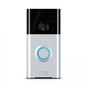 Ring Video Doorbell - Sonette vidéo 720p HD avec système audio bidirectionnel, détection de mouvement et connexion wi-fi, couleur Nickel Satiné de la marque Ring image 0 produit