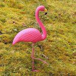 Rose Flamant rose sur pied plastique Jardin Pelouse étang Ornement extérieur d'été barbecue Party Décor–peint à la main avec des Détails Feather Texture de la marque ASAB image 1 produit