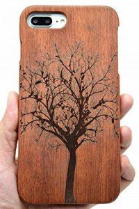 RoseFlower® Coque iPhone 8 4.7'' en Bois Véritable - Sapin de Noël de palissandre - Fabriqué à la main en Bois / Bambou Naturel Housse / Étui de la marque RoseFlower image 0 produit