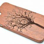 RoseFlower® Coque iPhone 8 4.7'' en Bois Véritable - Sapin de Noël de palissandre - Fabriqué à la main en Bois / Bambou Naturel Housse / Étui de la marque RoseFlower image 2 produit