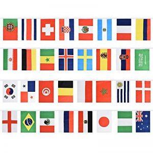 Rosepoem 2018 Coupe du Monde de la FIFA 32 Teams Flag Coupe du monde de Russie 2018 Total 32pcs Drapeaux Multicolore de la marque Rosepoem image 0 produit