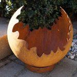 rouille Noble déco / Feuerkugel Fissures AVEC ANNEAU DE Support Décoration de jardin métal de la marque Dewoga image 2 produit