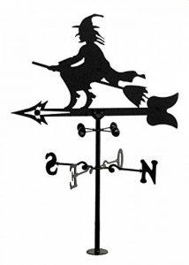 Rustiluz Girouette de vent. Girouette avec silhouette de sorcière fabriquée avec forge de la marque image 0 produit