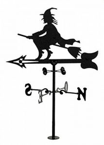Rustiluz Girouette de vent. Girouette avec silhouette de sorcière fabriquée avec forge de la marque Rustiluz image 0 produit