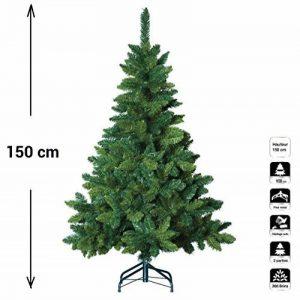Sapin de Noël artificiel blooming VERT - Hauteur 1m50 - 369 Branches - Qualité luxe de la marque FEERIC CHRISTMAS image 0 produit
