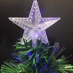 Sapin de Noël artificiel lumineux avec fibre optique + 88 BRINS à Variation de lumière - livré avec son pied - Hauteur 90 cm - Coloris VERT de la marque Féerie christmas image 2 produit