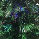 Sapin de Noël artificiel lumineux avec fibre optique + 88 BRINS à Variation de lumière - livré avec son pied - Hauteur 90 cm - Coloris VERT de la marque Féerie christmas image 3 produit