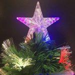 Sapin de Noël artificiel lumineux avec fibre optique + 88 LED MULTICOLORE + 8 Jeux de lumière - livré avec son pied - Hauteur 90 cm - Féerique ! de la marque FEERIC LIGHTS & CHRISTMAS image 5 produit