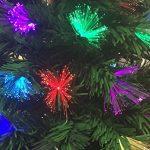 Sapin de Noël artificiel lumineux avec fibre optique + 88 LED MULTICOLORE + 8 Jeux de lumière - livré avec son pied - Hauteur 90 cm - Féerique ! de la marque FEERIC LIGHTS & CHRISTMAS image 4 produit