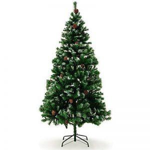 Sapin de Noël avec décoration pommes de pins et neige artificielle - 180cm de la marque Deuba image 0 produit