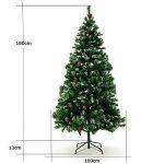 Sapin de Noël avec décoration pommes de pins et neige artificielle - 180cm de la marque Deuba image 3 produit