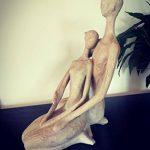 Sculpture couple assis enlacés de la marque CASABLANCA image 1 produit