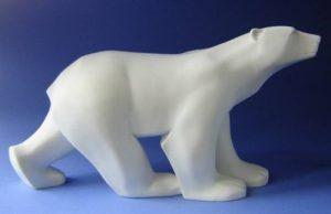 Sculpture - Ours blanc - (réplique) - Résine, basé sur le travail de Francois Pompon #01 de la marque Parastone Museums Kollektion image 0 produit