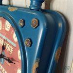 SDFN-Style américain bleu rétro fer en Difficulté industrielle vent silencieux horloge de mur (sans alimentation)Cadeau de cadeau de Noël de vacances d'ami cadeau de la marque wpw-wall clock image 3 produit