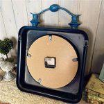 SDFN-Style américain bleu rétro fer en Difficulté industrielle vent silencieux horloge de mur (sans alimentation)Cadeau de cadeau de Noël de vacances d'ami cadeau de la marque wpw-wall clock image 4 produit
