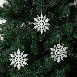Sea Team Lot de 36 décorations pour sapin de Noël Plastique Paillettes Flocon de neige 10,2cm de la marque Sea Team image 3 produit