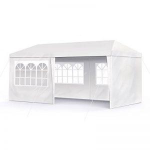 Sekey 3 x 6 m Imperméablebelvédèresavec des murs latéraux/jambes réglables, pour jardin/fête/mariage/pique-nique, UV30 +, blanc de la marque Sekey image 0 produit