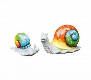 Série 2 Escargots, terre cuite en gris mat et de brillantes couleurs en jaune de la marque Amelex 67 image 0 produit