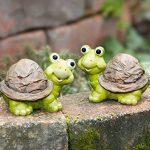 Série 2 tortues, figurine drôle, terre cuite peinte de la marque amelex 67 image 4 produit