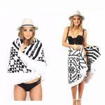 Serviette de Plage Ronde, BEECOCO Ronde Mandala Plage Serviette Coton Tapisserie Round beach towel pour La plage extérieure et la Décoration (noir) de la marque BEECOCO image 3 produit
