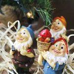 Set de mini gnomes de jardin, ensemble de mini statues des sept nains avec champignons et outils (7 pièces) de la marque WZ image 1 produit