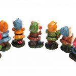 Set de mini gnomes de jardin, ensemble de mini statues des sept nains avec champignons et outils (7 pièces) de la marque WZ image 4 produit