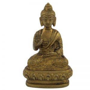ShalinIndia méditation Statue de Bouddha assis Statue de Bouddha Laiton Taille: H-3, L-1.75, W-1.25pouce de la marque ShalinIndia image 0 produit