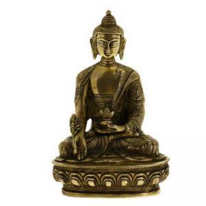 ShalinIndia Tête de Bouddha Sculpture murale bouddhisme Décor Laiton Métal Art 14cm de la marque ShalinIndia image 0 produit