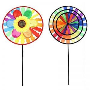 Sharplace 2 Pièces Moulin à Vent en Plastique Tissu Multicolore de la marque Sharplace image 0 produit