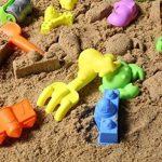 Shinehalo Jouet Sable Plage pour Enfants Jeu de Plein Air Jouets d'outils, Pelle Seau Râteaux Véhicules Moules de Château, Créatures de la mer, Cadeau Enfant, L'éducation pour Kid- Multicolore de la marque Shinehalo image 2 produit