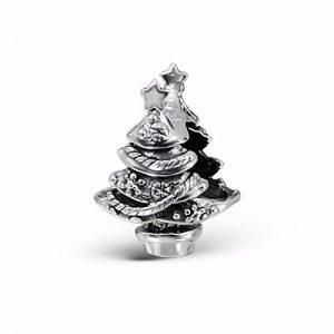 """Silvadore Bracelet chaîne solide en argent Motif sapin de Noël décoré Star Support pour Pot de fleurs moderne-Argent 925 Sterling - 387 3D Glissez le Bracelet Pandora """"Boîte cadeau incluse de la marque Silvadore image 0 produit"""