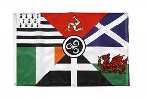 Six Nations de Celte 5 ft x 3 ft Bannière drapeau avec Livraison gratuite au Royaume-Uni de la marque Emblems-Gifts image 0 produit