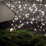 SnowEra - Décoration lumineuse/Illumination de Noël en Métal avec 140 micro-LED - Couleur LED : Blanc chaud - Forme : Étoile en métal noir de la marque SnowEra image 2 produit
