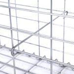 Songmics Gabion à pierre Cage à pierre Métallique galvanisé avec Spirale pour Muret Soutènement Clôture décorative Gris 100 x 80 x 30cm GGB183 de la marque SONGMICS image 4 produit